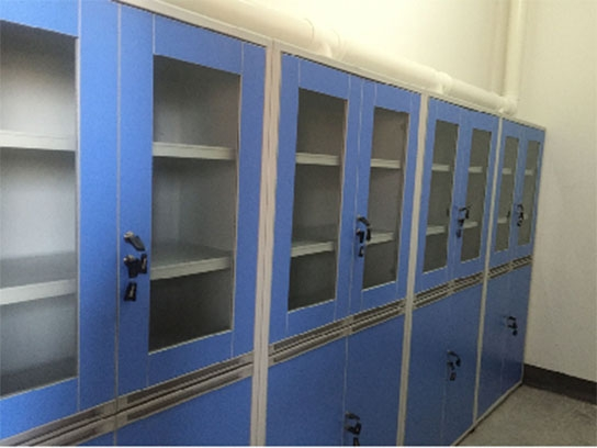 铝木结构药品柜